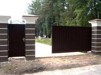 Автоматические Уличные откатные ворота Дорхан 4100*2000