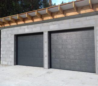 Секционные гаражные ворота с приводом 2700*2100