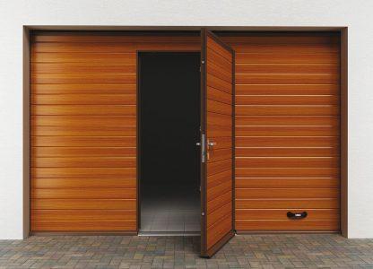 Тёплые подъемные секционные ворота (RSD02) 2200*2200 с калитной