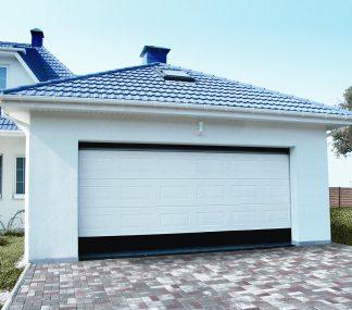 Автоматические тёплые подъемные секционные ворота (RSD02) 3500*2200