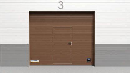 Промышленные секционные ворота из сэндвич панелей (ISD01) 3000*2900 с ручным цепным приводом