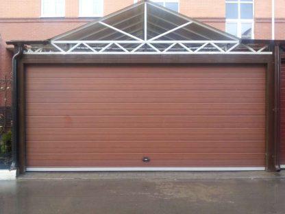 Ворота гаражные подъемные секционные Дорхан 4200*2100 с автоматикой
