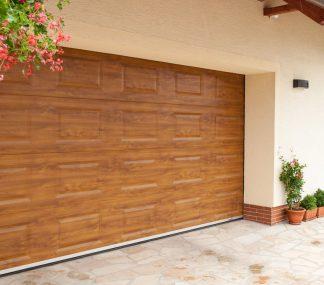 Ворота гаражные подъемные секционные Дорхан 4500*2200 с автоматикой