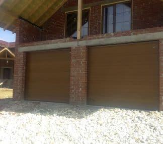 Ворота гаражные секционные с торсионными пружинами 2800*2600 с электроприводом Дорхан