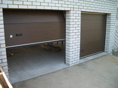 Ворота гаражные секционные с торсионными пружинами 2100*2100 Дорхан