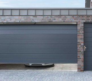 Секционные гаражные подъемные ворота Дорхан 3900*2200 с автоматическим приводом