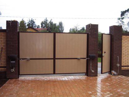 Уличные распашные ворота Дорхан 3000*2400 с автоматикой