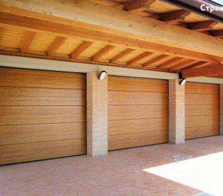 Подъемные гаражные ворота секционные Дорхан 2500*2500 с автоматикой