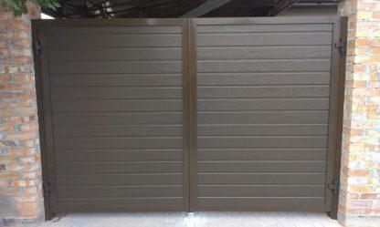 Распашные ворота из сендвич панелей DoorHan 2950*2200 с автоматикой