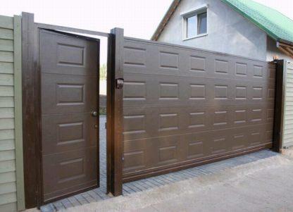 Откатные ворота Дорхан 3800*2300 с автоматикой