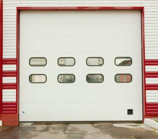Ворота для склада подъемные секционные автоматические Дорхан 4800*5300