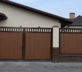 Распашные ворота из сендвич панелей DoorHan 3000*2200