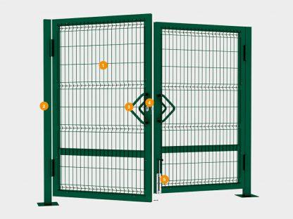 Ворота для систем ограждения распашные 3000*2050 1