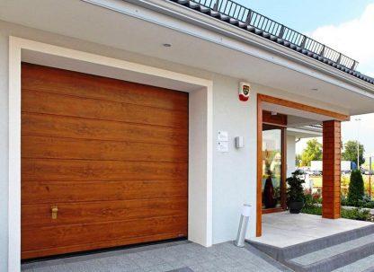 Подъемные секционные ворота в гараж с автоматикой (RSD02) 2200х2200