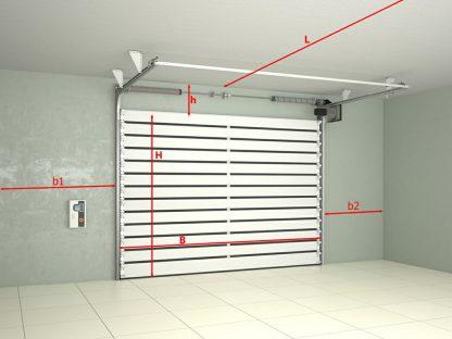 Скоростные ворота для гаража экстренной службы 4000х3700 1