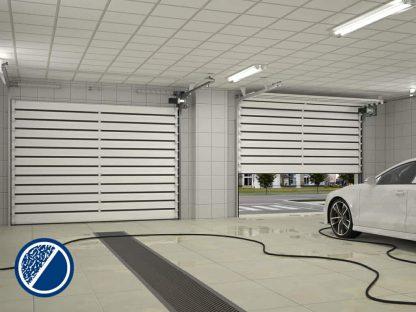Скоростные спиральные ворота для паркинга