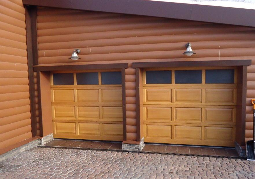 деревянные секционные ворота